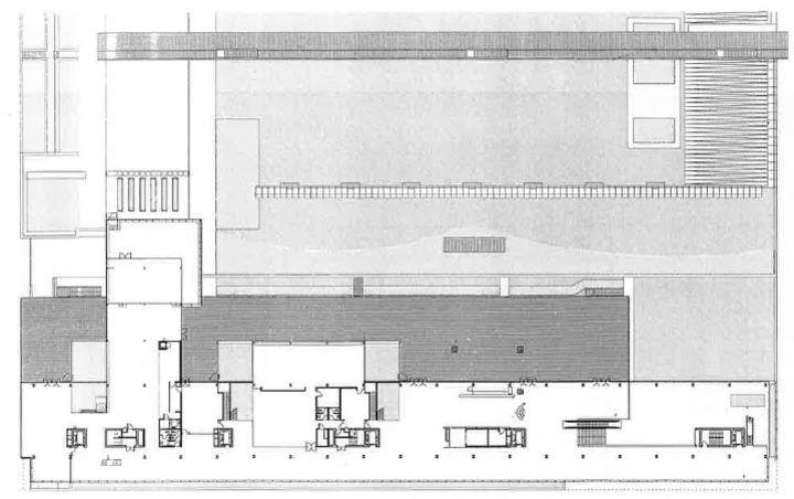 plan du rez de jardin caisse nationale de pr voyance fabrice dusapin et fran ois leclercq. Black Bedroom Furniture Sets. Home Design Ideas