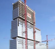 Le chantier du TGI de Paris, Renzo Piano architecte, filmé par Bouygues Construction