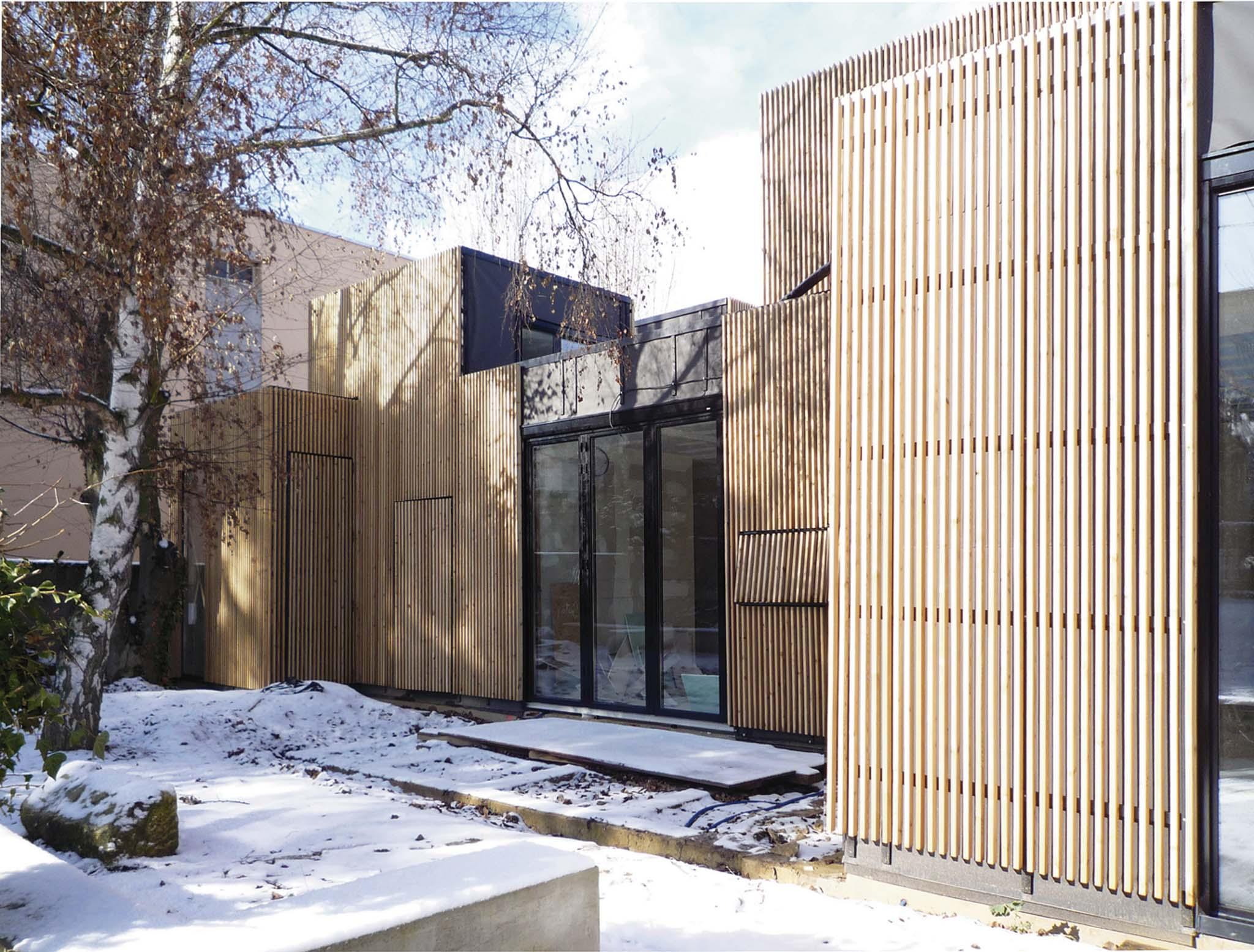 Fa ade sud maison individuelle a samuel delmas s vres for Delmas architecte