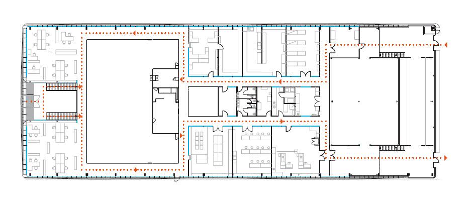 Plan niveau 1 bureaux et laboratoires sophysa brigitte metra besan on q - Brigitte metra architecte ...