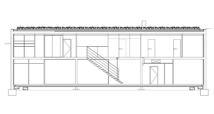 coupe longitudinale maison biscuit pierre minassian lyon prix de la premi re oeuvre 2007. Black Bedroom Furniture Sets. Home Design Ideas