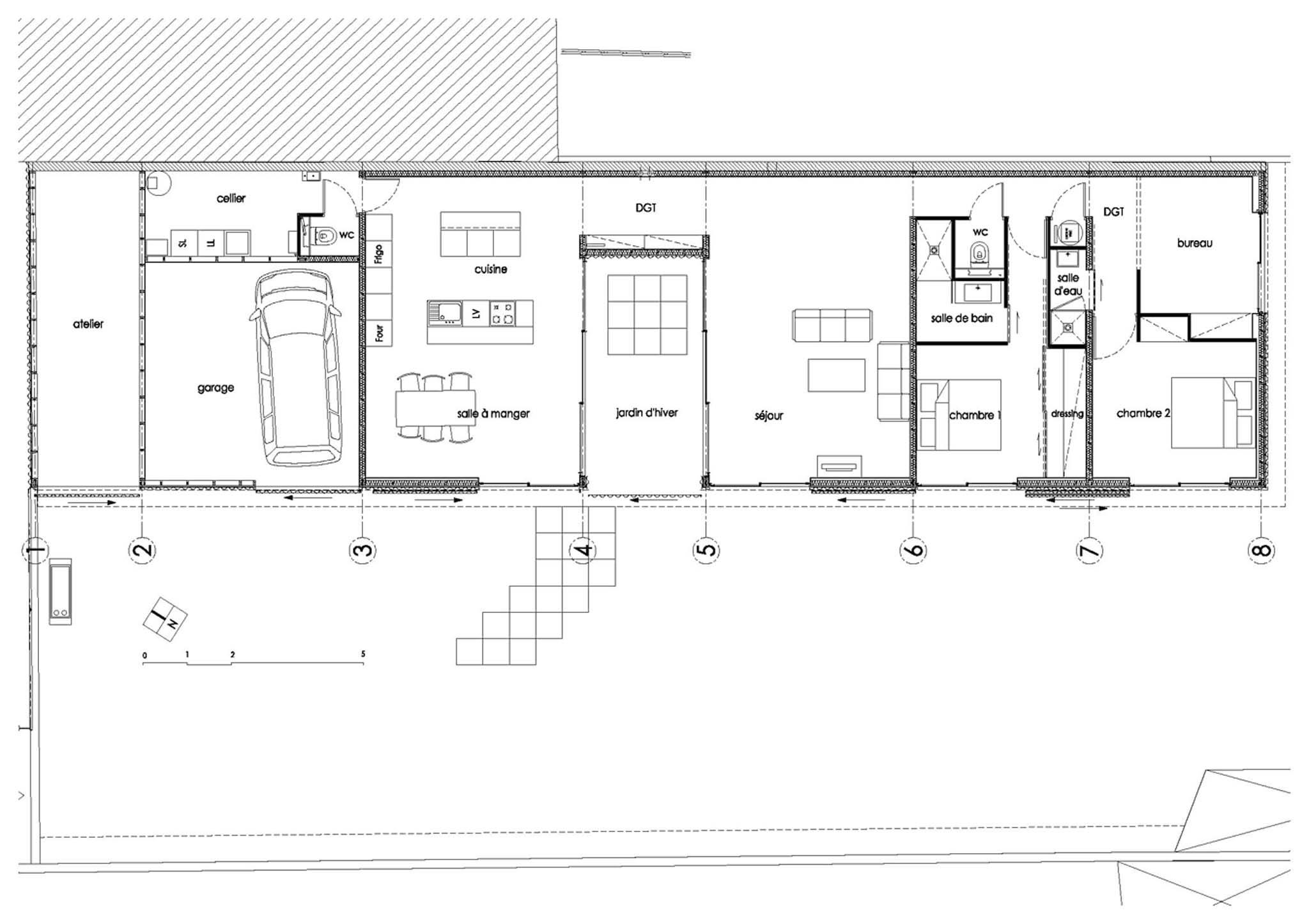 maison en u plan le plan en i plan de tage maison. Black Bedroom Furniture Sets. Home Design Ideas