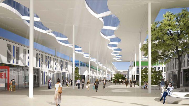 Perspectives du projet avec la grande rue principale et - Residence les jardins de l universite toulouse ...