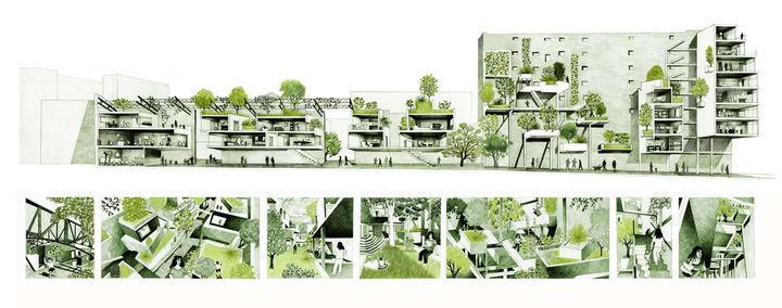 r inventer paris chartier dalix architectes site ordener xviiie arr coupes et storyboard. Black Bedroom Furniture Sets. Home Design Ideas