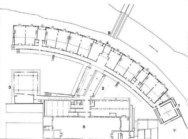 plan de l 39 cole rez de chauss e cole d architecture patrick berger rennes querre d. Black Bedroom Furniture Sets. Home Design Ideas