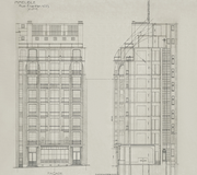 Immeuble Franklin. Dessin d'Auguste Perret, reproduction