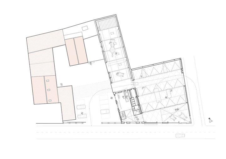 Nua arquitectures bureaux et showroom espagne plan