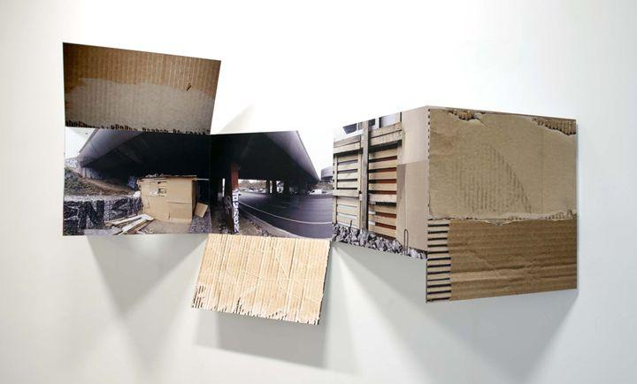 Yves buraud campement 2013 encre sur m tal 88 x 163 x 28 cm - Francois brugel architecte ...