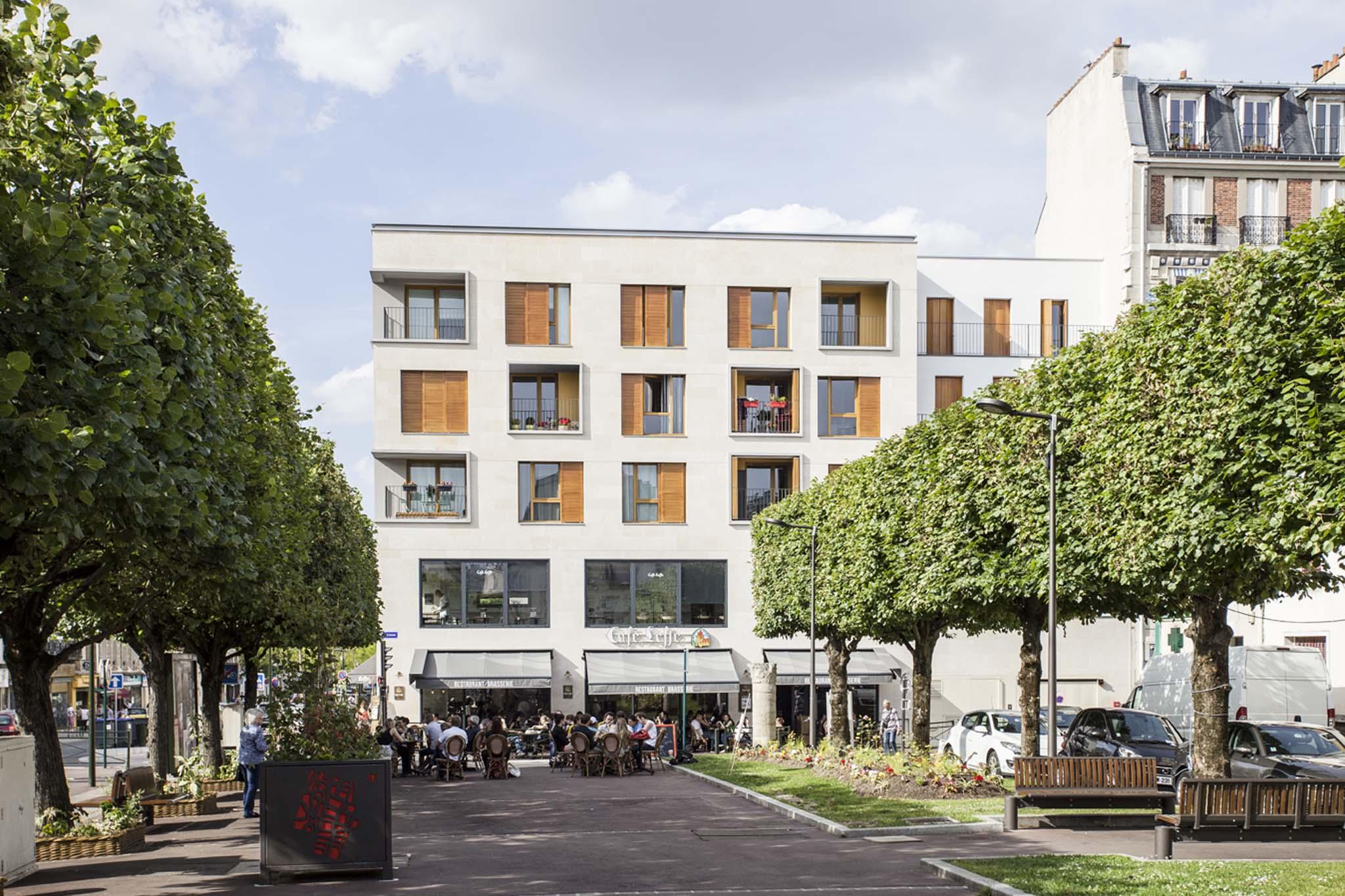 90 logements en centre ville de bourg la reine par badia. Black Bedroom Furniture Sets. Home Design Ideas