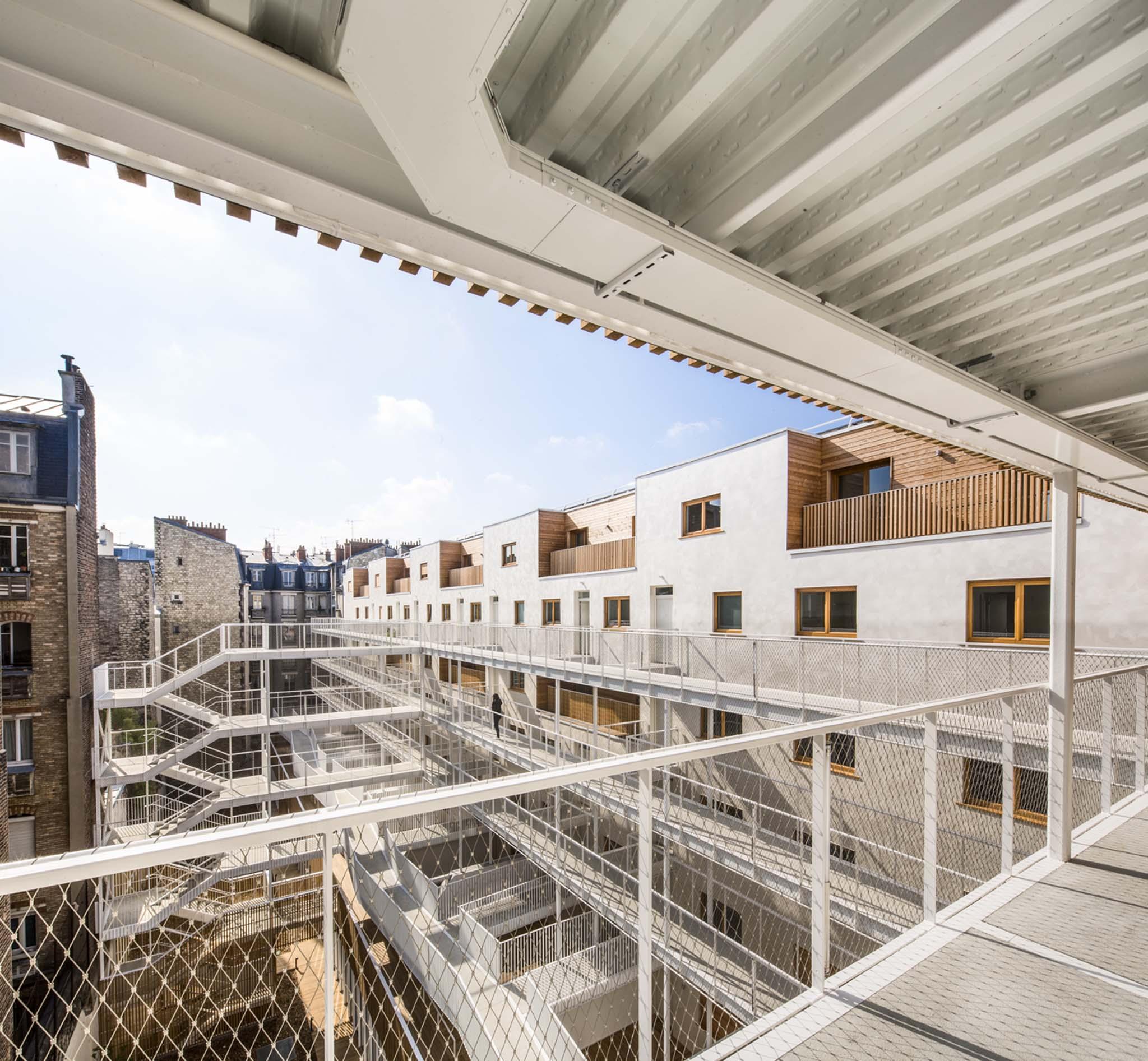Vincent parreira aavp 69 logements et un gymnase for Projet architecture paris