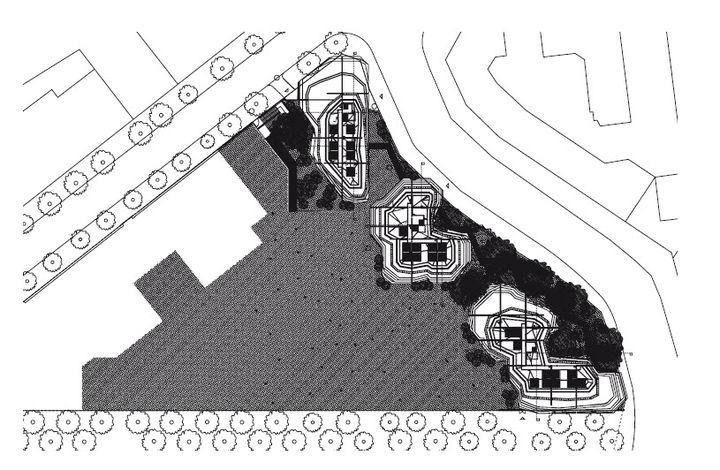 plan d implantation 100 logements pli et pla jakob macfarlane paris xix nomin au prix de. Black Bedroom Furniture Sets. Home Design Ideas