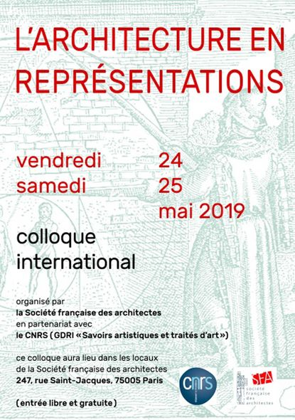 L'architecture en représentations, colloque international à Paris