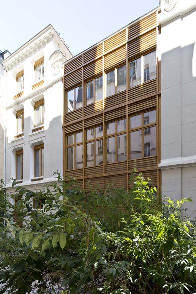 parc architectes restructuration des fa ades d un immeuble de bureaux paris. Black Bedroom Furniture Sets. Home Design Ideas