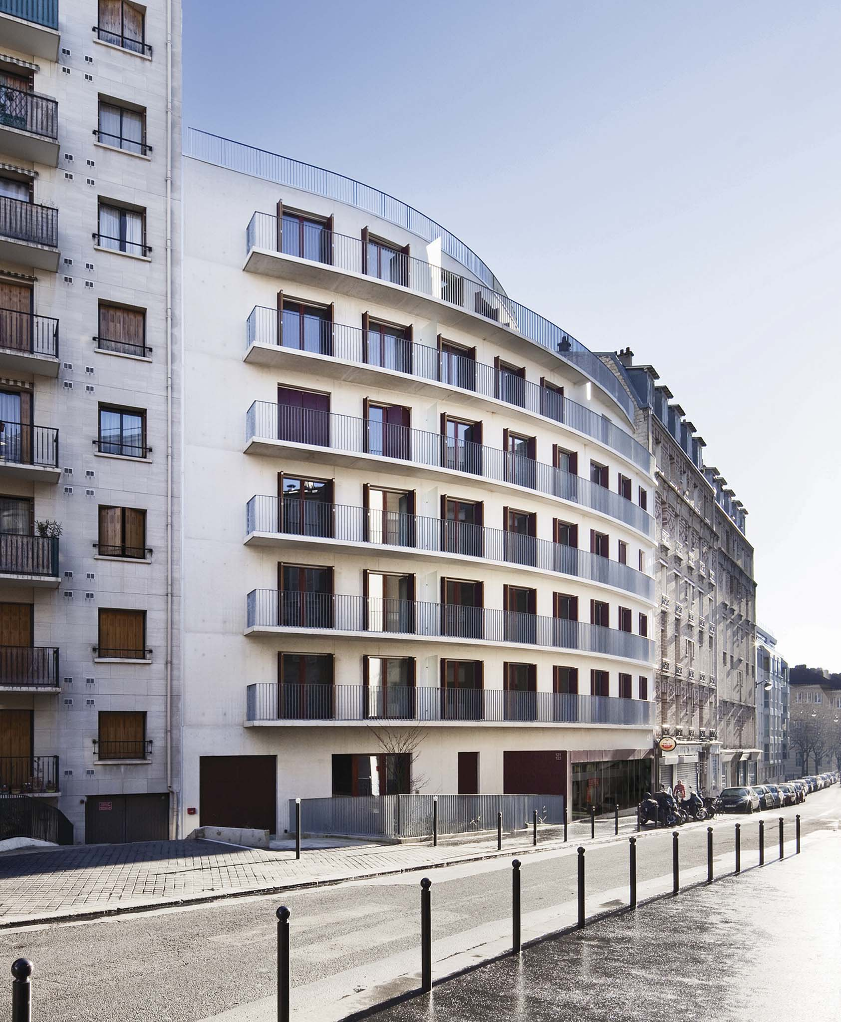 Rppb architectes 17 logements sociaux for Architecte paris
