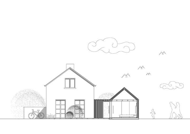 extension de maison en bois br l nem architectes ambon. Black Bedroom Furniture Sets. Home Design Ideas
