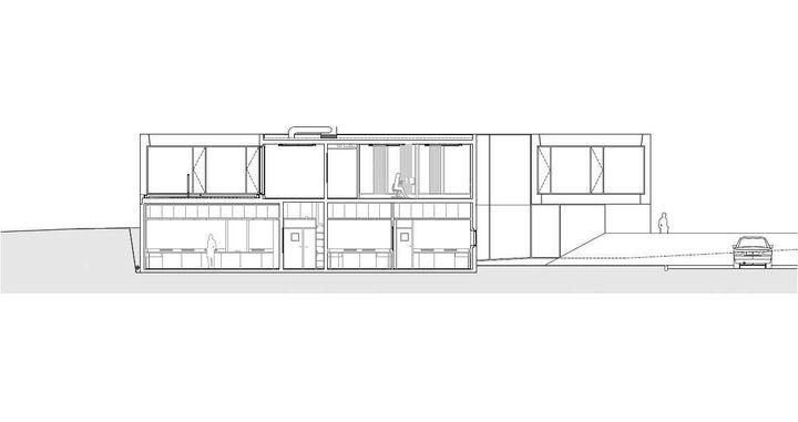 coupe transversale laboratoire de recherche en neuro imagerie vialet architecture caen prix. Black Bedroom Furniture Sets. Home Design Ideas