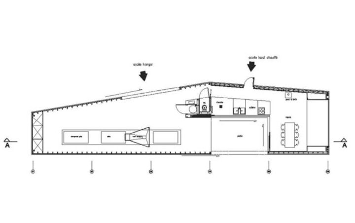 plan du rez de chauss e hangar ostr icole julien perraud raum ria d etel prix de la. Black Bedroom Furniture Sets. Home Design Ideas