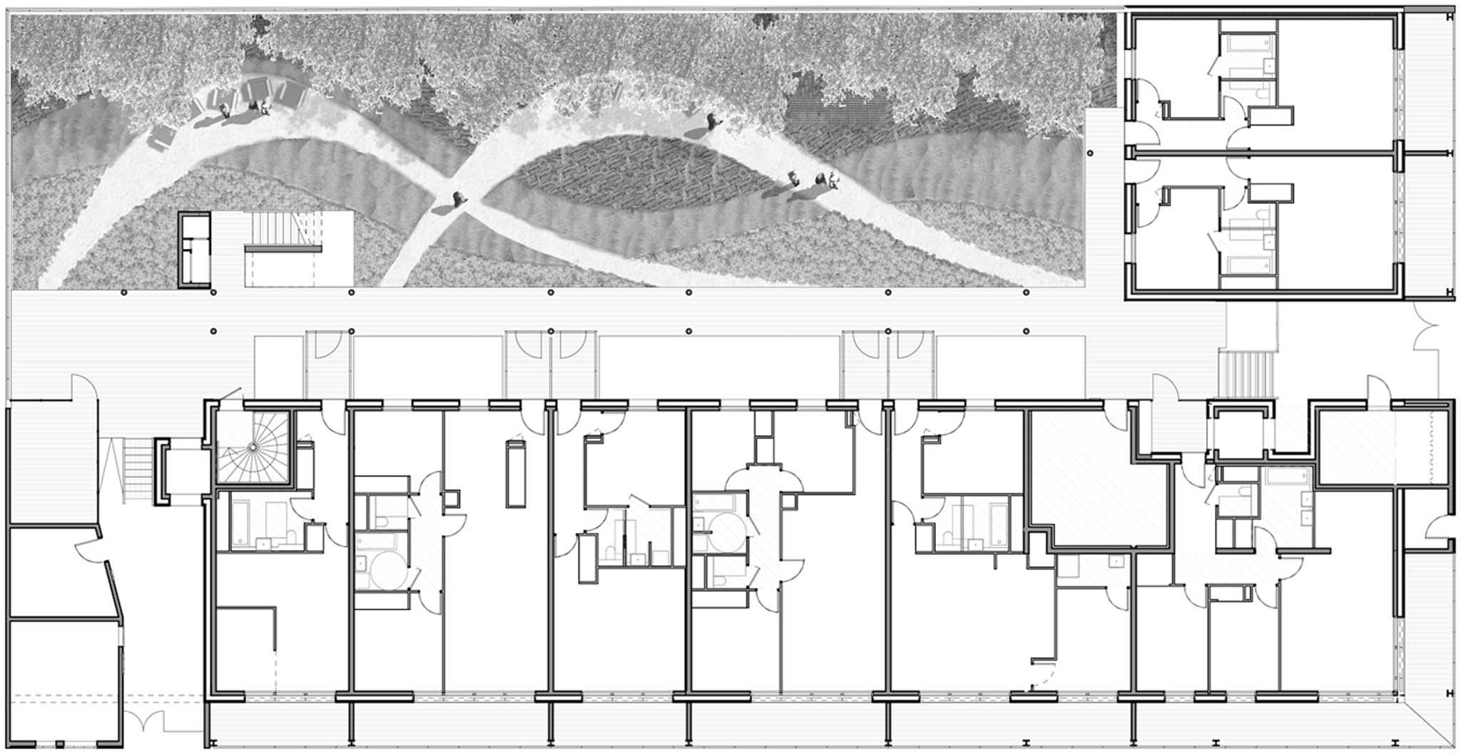 Plan du rdc 66 logements immeuble amplia lipsky rollet lyon confluence photo n 34