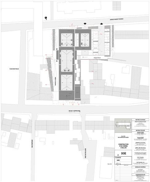 plan de masse du cin mma de six fours les plages par jean michel fradkin architecte. Black Bedroom Furniture Sets. Home Design Ideas