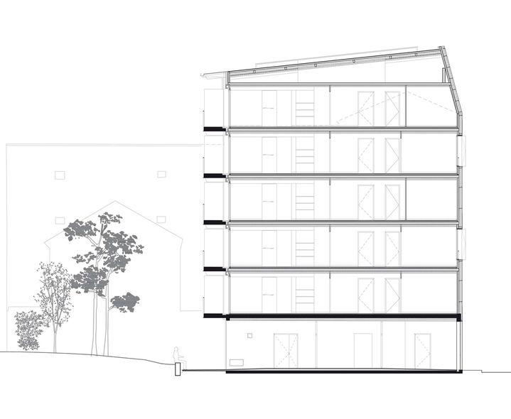 10 logements en structure bois jtb architecture saint denis coupe transversale. Black Bedroom Furniture Sets. Home Design Ideas
