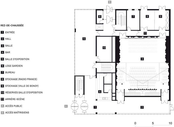 Auditorium et conservatoire d 39 enseignement du chant choral for Prix d un architecte pour plan de garage