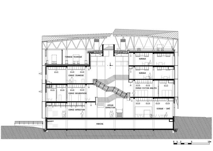 M diath que aia architectes bron coupe transversale for Architecte 3d plan de coupe