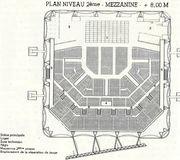 Plan niveau 2 me salle de spectacle le z nith chaix et morel la villette paris xixe Plan salle zenith paris