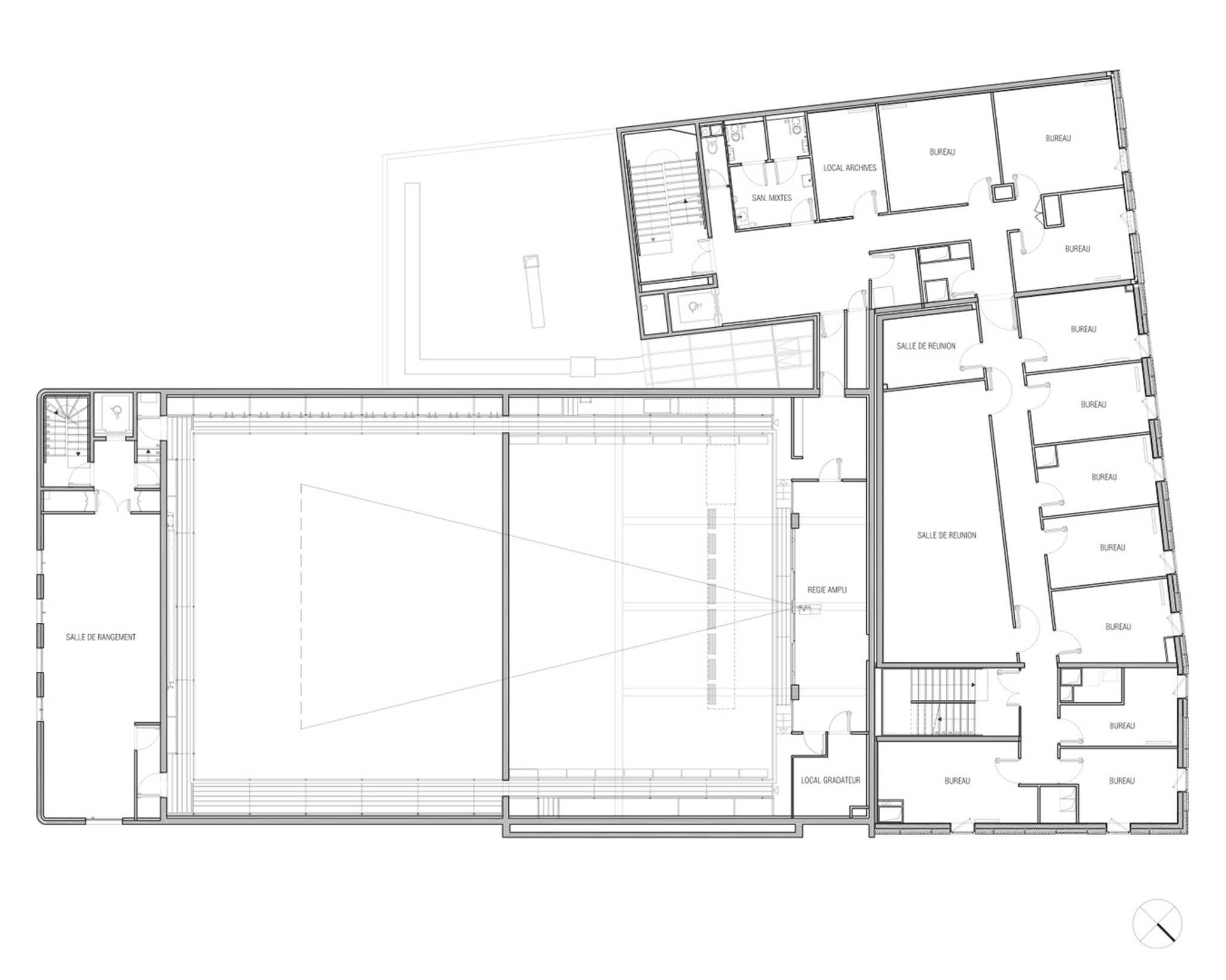 Restructuration et extension dun théâtre manuelle gautrand architecture béthune plan du r 2 manuelle gautrand architecture photo n 1214