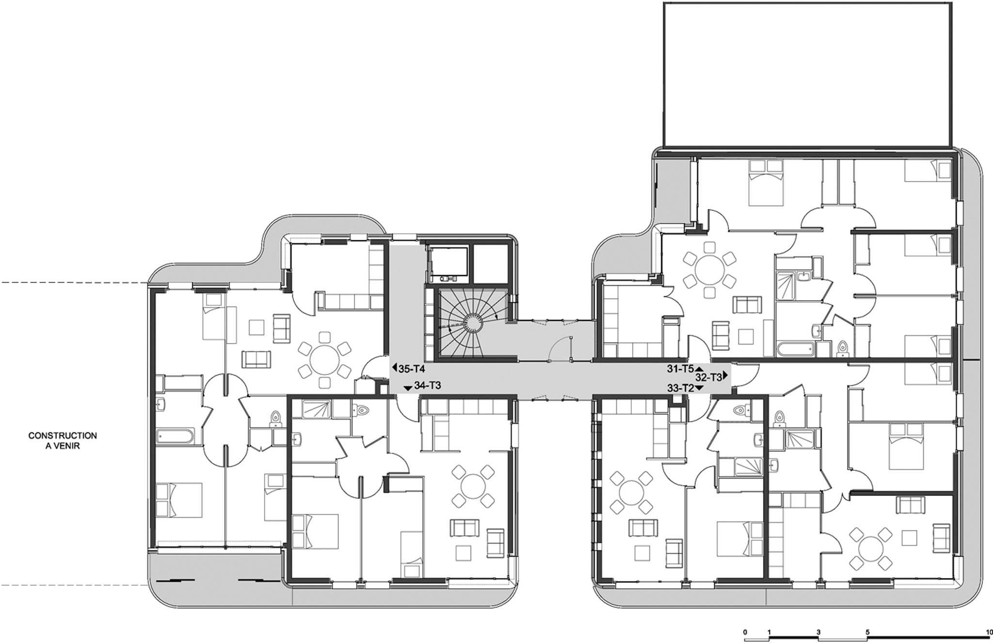 Plan du r 3 29 logements sociaux immeuble le candide bruno rollet vitry sur seine photo