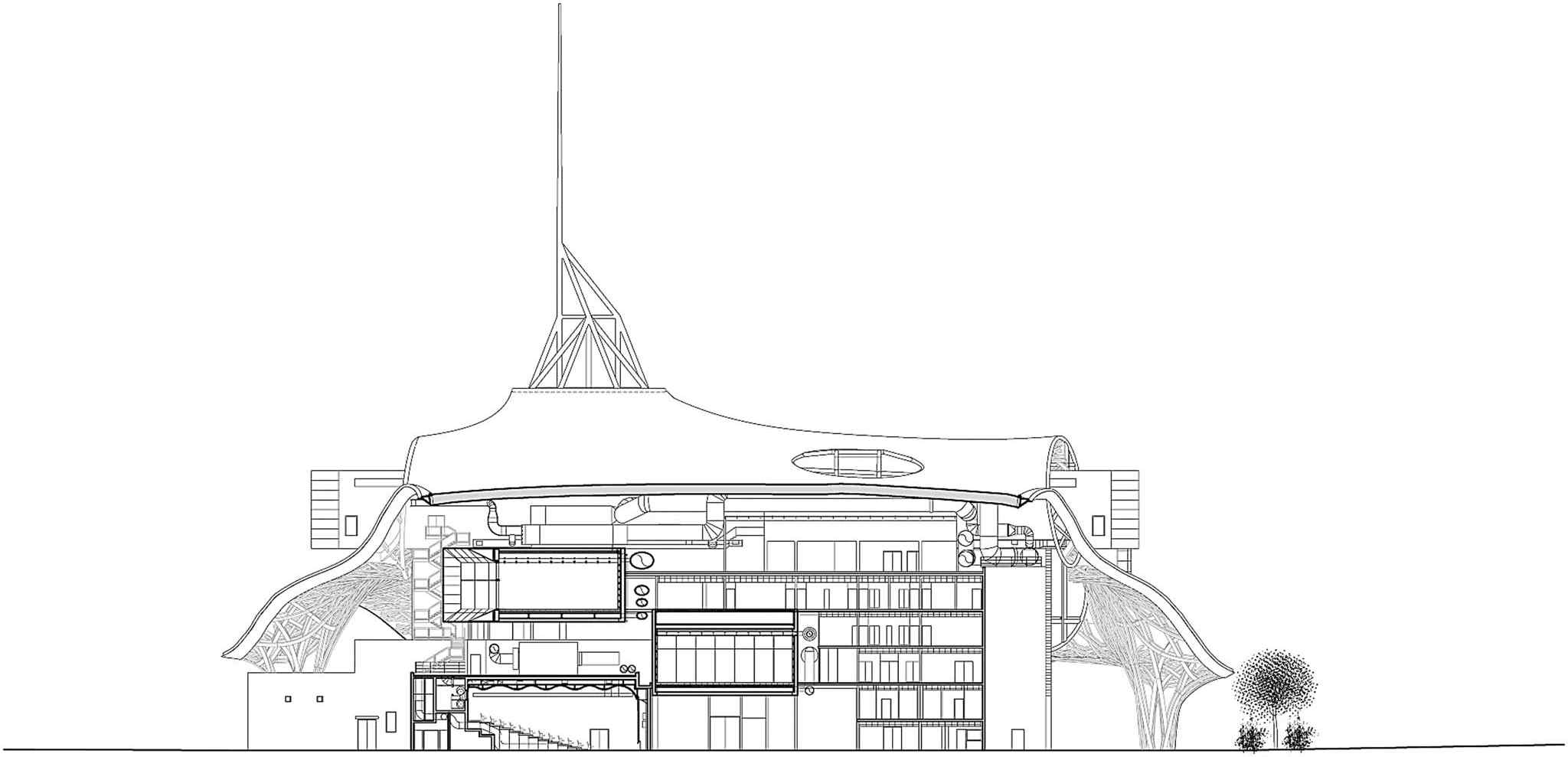 coupe support centre pompidou metz shigeru ban et jean de gastines nomin querre d 39 argent 2010. Black Bedroom Furniture Sets. Home Design Ideas