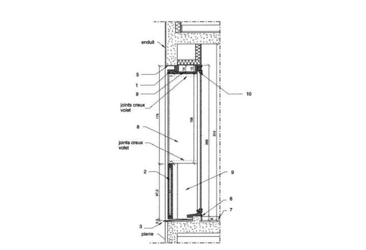 Coupe verticale 16 logements pli simon galiano for Coupe verticale d un batiment