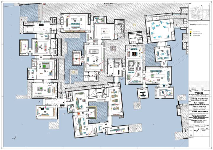 Louvre Abu Dhabi - Plan général des galeries d'exposition