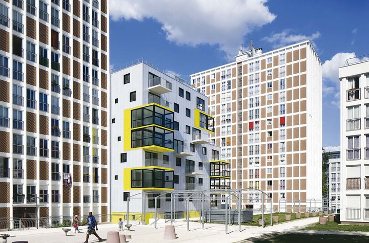 Philippe dubus 60 logements sociaux for Architecture contemporaine paris