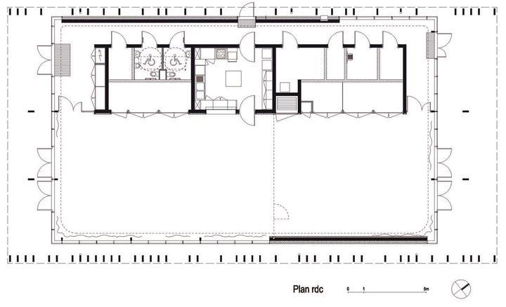Foyer paroissial strasbourg par aubry lieutier plan du rdc - Francois brugel architecte ...