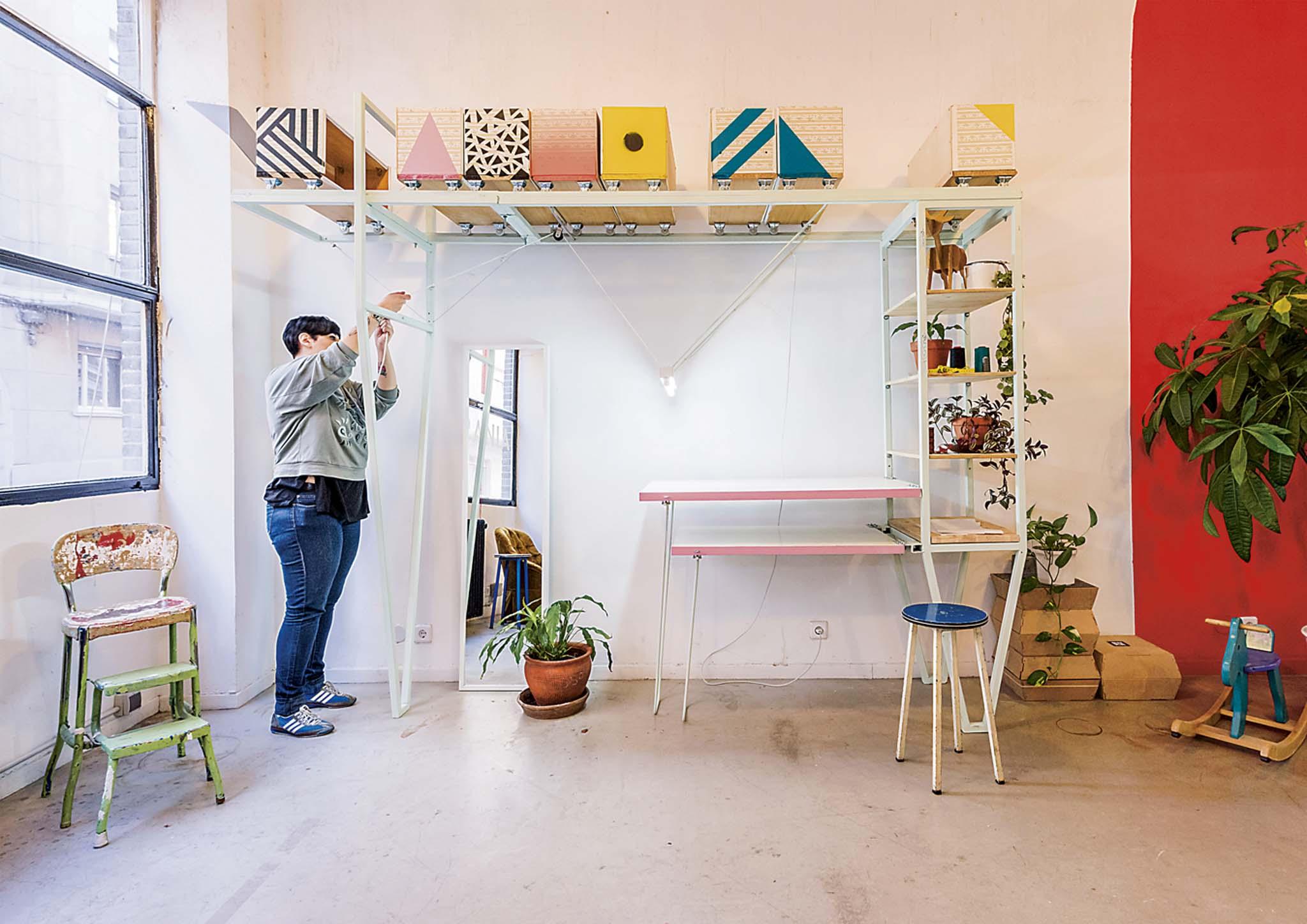 pkmn home back home transformation d 39 une chambre en atelier de couture bilbao. Black Bedroom Furniture Sets. Home Design Ideas