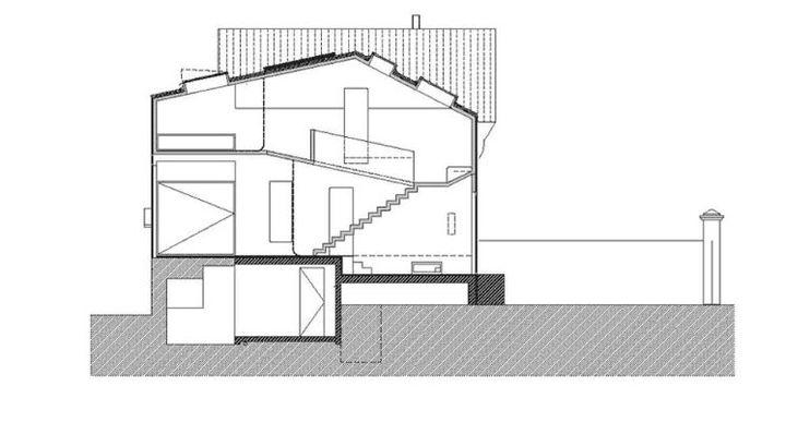 Coupe longitudinale rehabilitation d une maison jpg