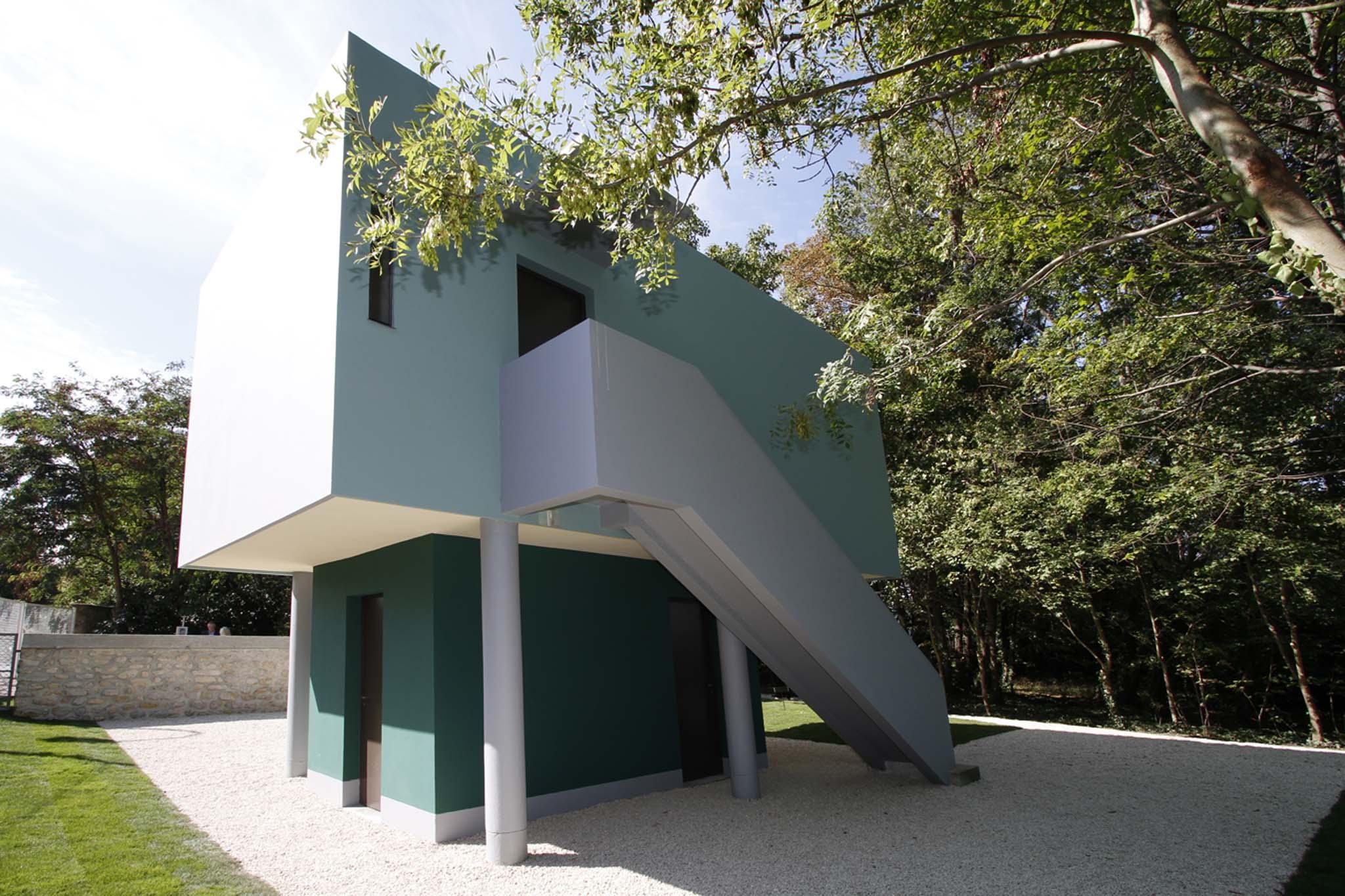 la loge de la villa savoye une uvre m connue de le corbusier red couvrir. Black Bedroom Furniture Sets. Home Design Ideas