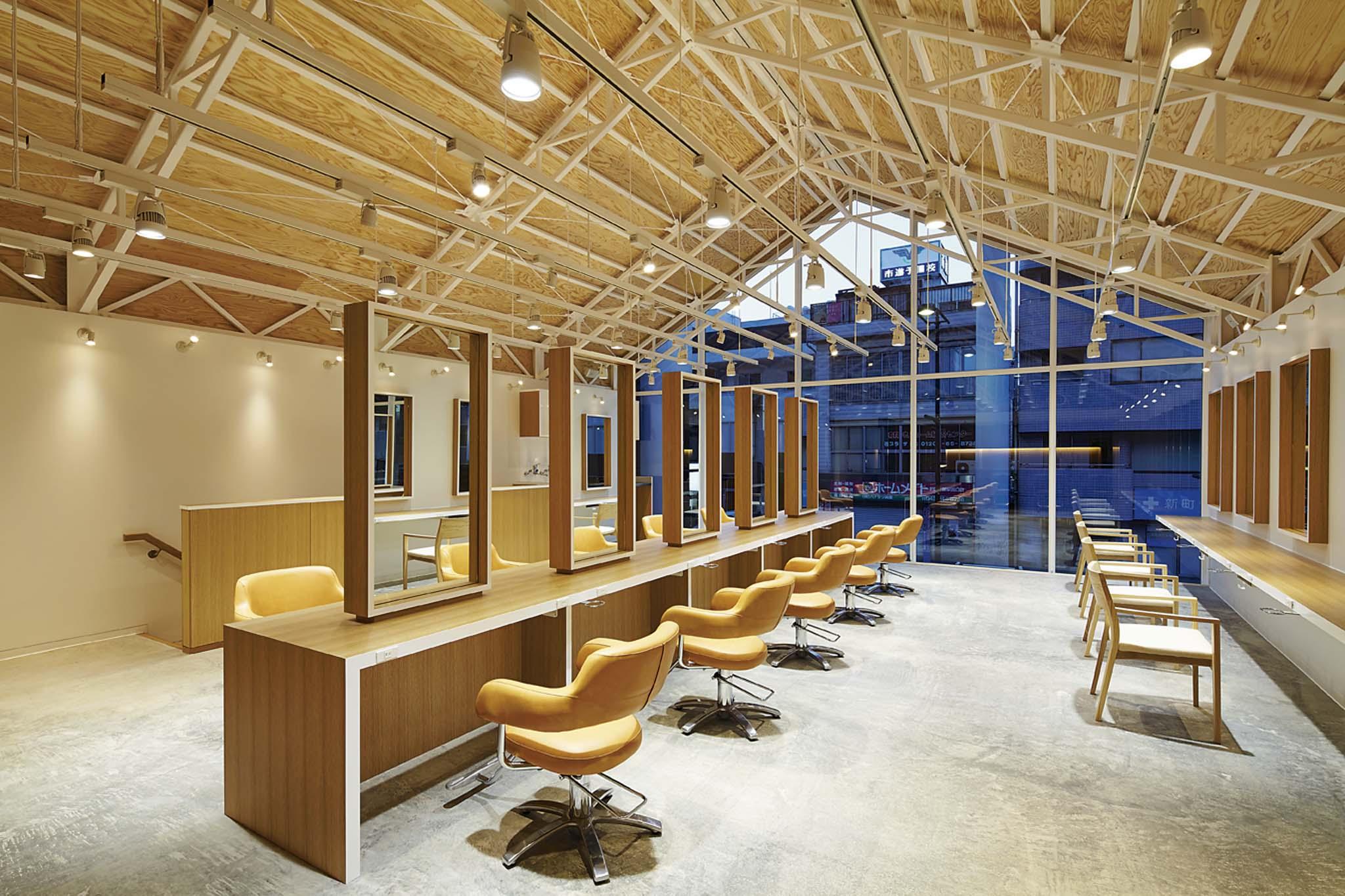 Ryo matsui architects salon de coiffure chiba japon - Salon de coiffure cherche coiffeuse ...
