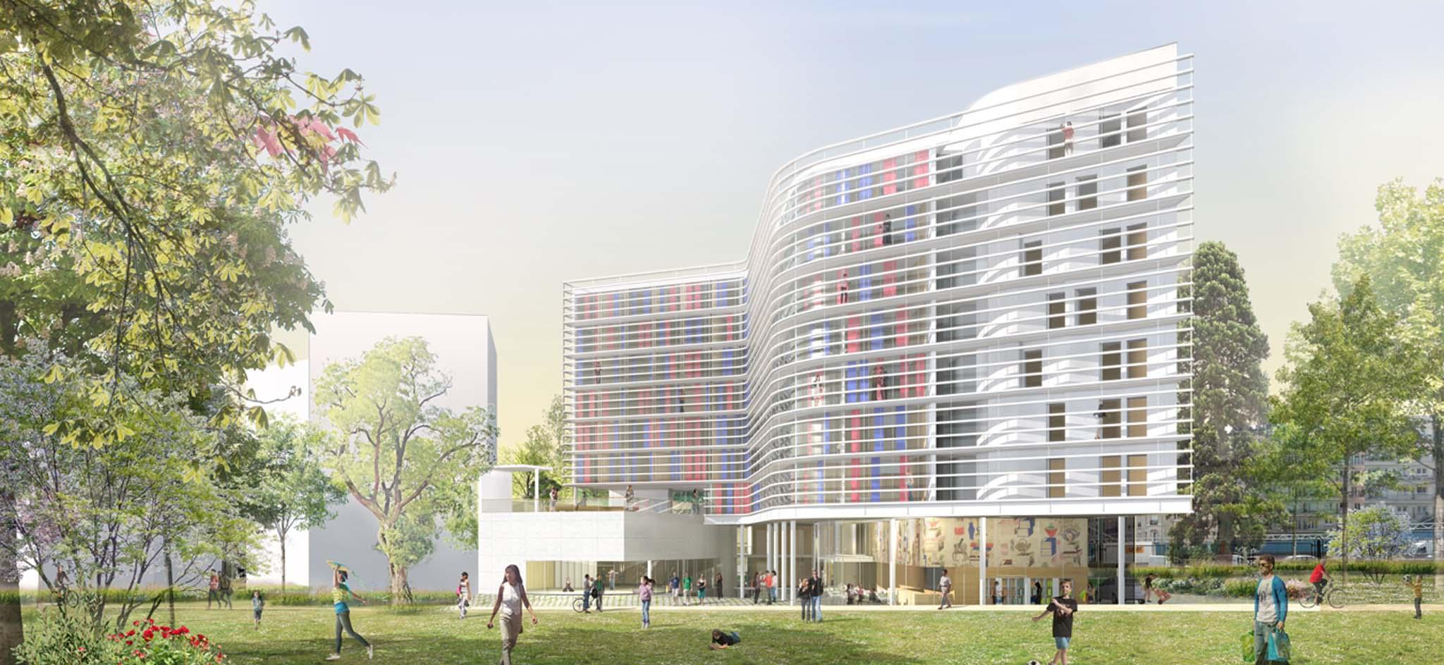 L quipe d architectes franco cor enne de ga a architects for Maison de norvege cite universitaire