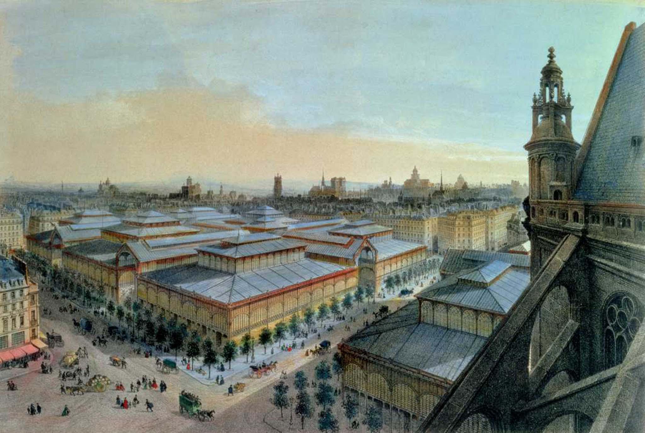 Le quartier des halles travers l 39 histoire for Les photos de paris