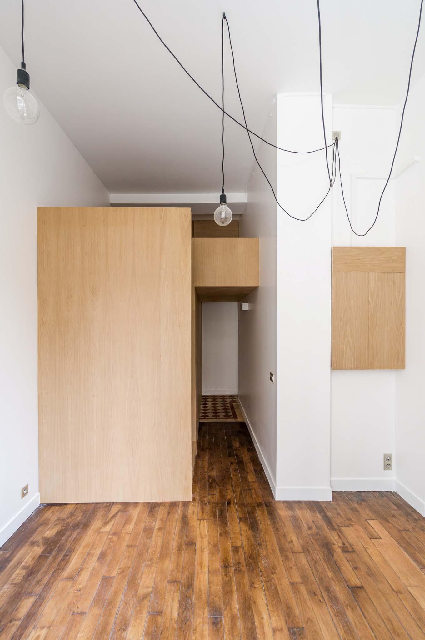 abdpa transformation d une loge de concierge paris. Black Bedroom Furniture Sets. Home Design Ideas