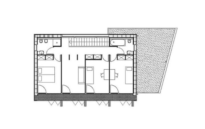plan du r 1 maison passive karawitz architecture bessancourt prix de la premi re oeuvre. Black Bedroom Furniture Sets. Home Design Ideas