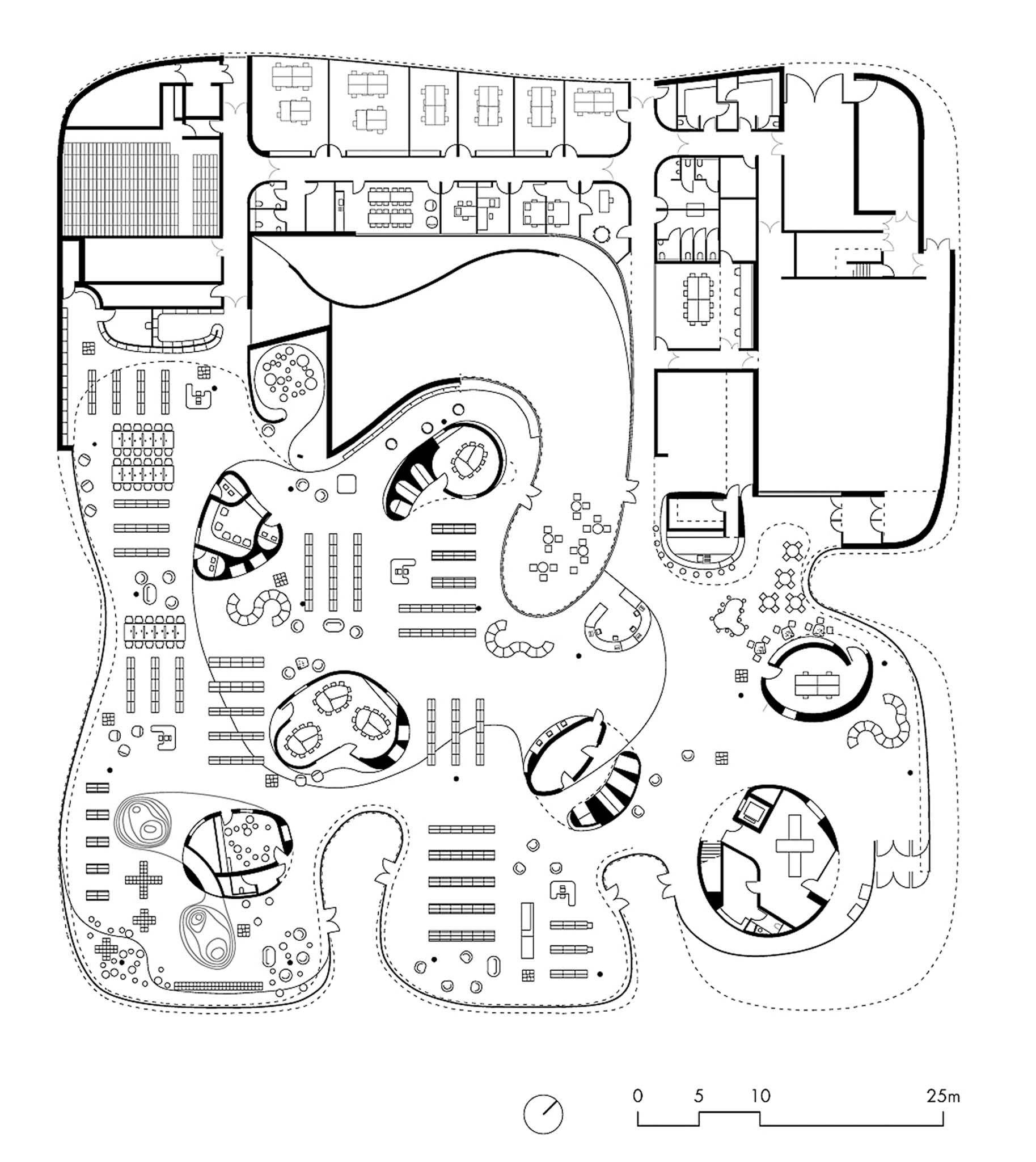 m diath que thionville par dominique coulon plan du rdc. Black Bedroom Furniture Sets. Home Design Ideas