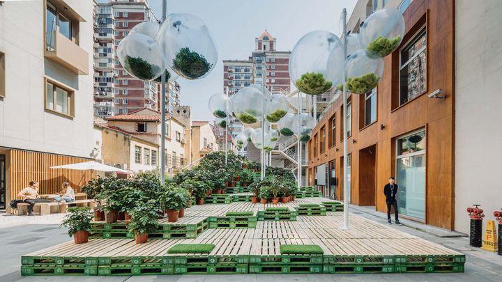 Un jardin de rue éphémère à Shanghai