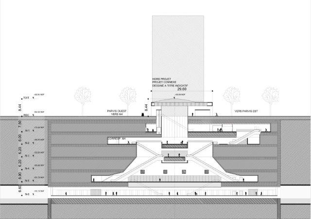 gare du grand paris express de bagneux atelier barani. Black Bedroom Furniture Sets. Home Design Ideas