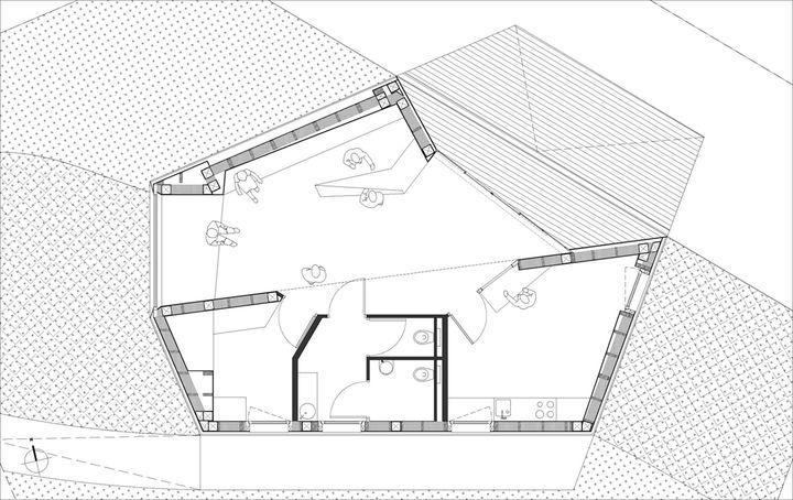 pavillon d 39 accueil r architecture flaine. Black Bedroom Furniture Sets. Home Design Ideas