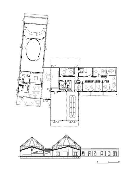 Plan du rdc et coupe transversale for Plan coupe maison