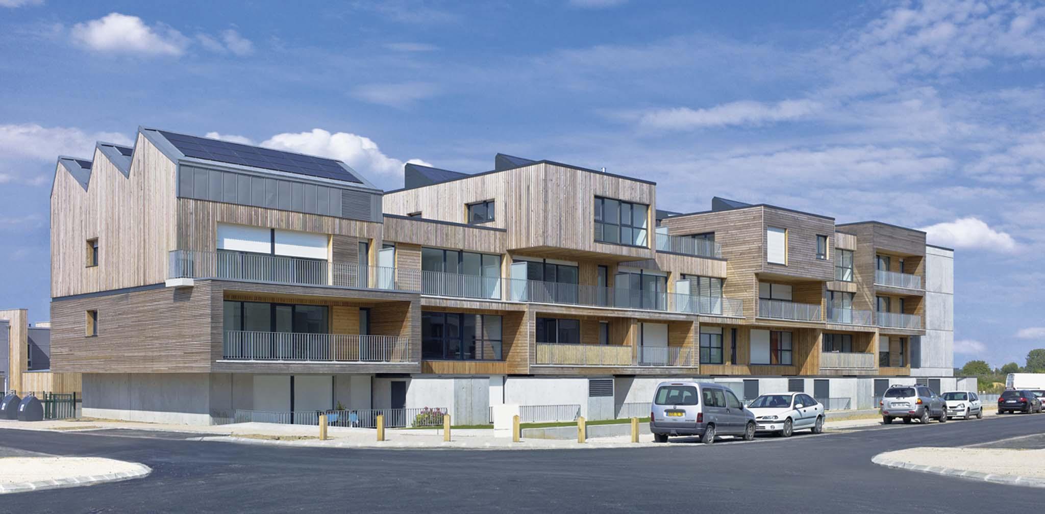 Cba architecture 43 logements interm diaires for Agence logement
