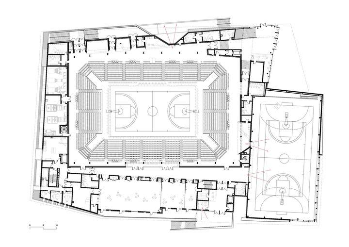 groupe 6 salle de sport et de spectacles blois plan r 1. Black Bedroom Furniture Sets. Home Design Ideas